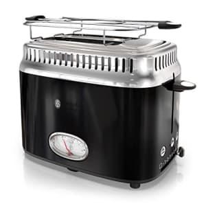 Russell Hobbs TR9150BKR Toaster, 2-Slice, Black for $44