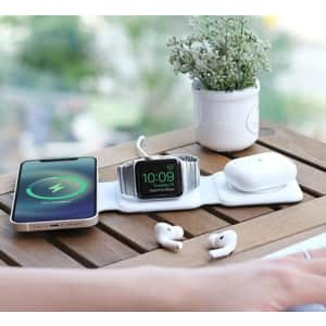 MagStack Foldable 3-in-1 Wireless Charging Station w/ Floating Stand for $36