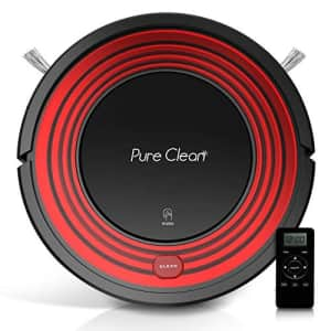 Pure Clean Automatic Programmable Robot Vacuum Cleaner - Dust Filter Pet Hair and Allergies Friendly - Auto for $160