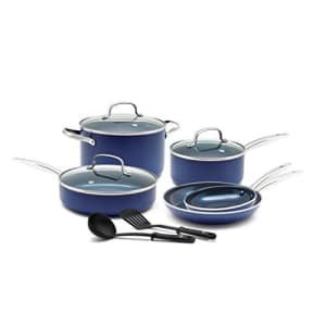 Blue Diamond Toxin Free Ceramic Nonstick Cookware Set, Big Value for $100