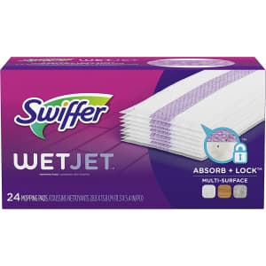 Swiffer WetJet Hardwood Floor Cleaner Spray Mop Pad Refill 24-Pack for $6