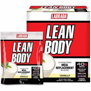 Labrada Nutrition Lean Body MRP All-In-One Vanilla Meal Replacement Shake, 40g Protein, Whey Blend, 8g Healthy Fats for $50