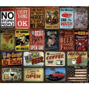 Vintage Retro Tin Wall Signs at eBay: Buy 3, get 2 more free in cart