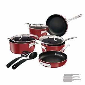 Gotham Steel STACKMASTER Pots Stackable 10 Piece Cookware Set Ultra Nonstick Cast Texture Coating for $120