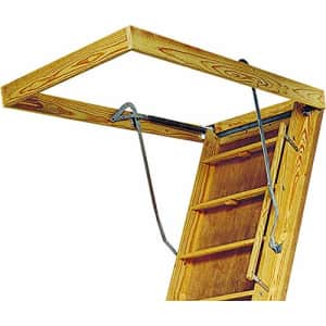 Louisville Ladder 30 by 60-Inch Big Boy Attic Ladder, 8-10-Foot Ceiling Height, 350-Pound Capacity, for $656