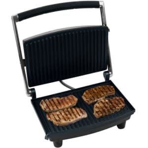 Chef Buddy 80-1840 Panini Press Grill and Gourmet Sandwich Maker for Healthy Cooking by for $95