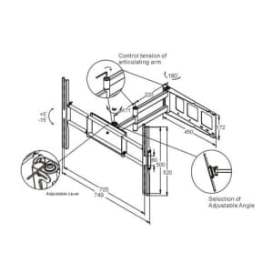 OSD Audio TSM-WA8S Full Motion Wall Mount for 32-inch to 60-inch Plasma or LCD TV for $55