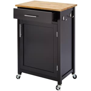 StyleWell Glenville 1-Drawer Kitchen Cart w/ Butcher Block Top for $87