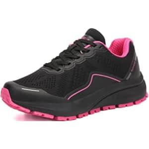 KUBUA Women's Mesh Running Shoes for $18