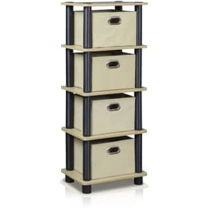 Furinno Laci 4-Bins System Rack for $19