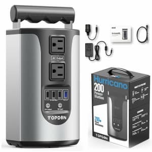 Topdon 200W Portable Power Station for $110