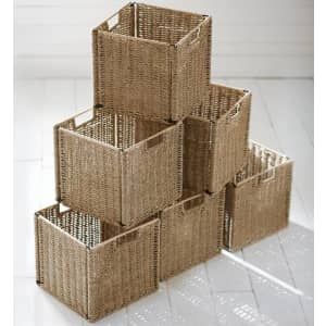 """Home Decorators Collection 11"""" x 10.5"""" Woven Bin Basket 6-Pack for $107"""