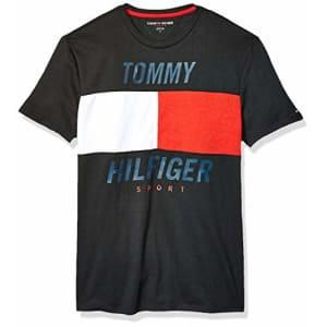 Tommy Hilfiger Men's Sport Short Sleeve Graphic T Shirt, Jet Black, XS for $35