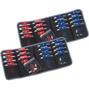 Lewis N. Clark AM/PM 16-Pouch Folding Pill Organizer 2-Pack for $16