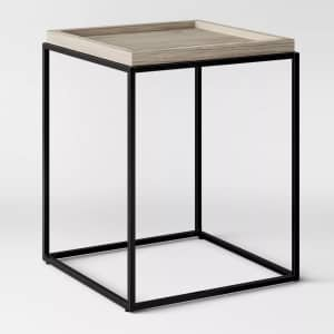 Threshold Bennington Mixed Material End Table for $77