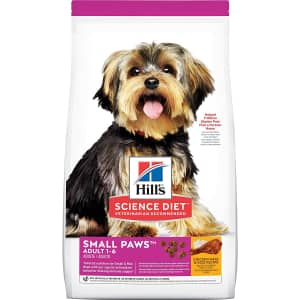 Hill's Science Diet Small Paws for Small Breed Dogs Dry Food 15.5-lb. Bag for $25 via Sub & Save