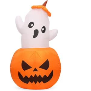 5-Ft. Halloween Inflatable Pumpkin Ghost w/ Light for $25