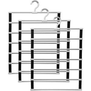 IMHO 6-Tier Space Saving Pants Hanger 3-Pack for $10