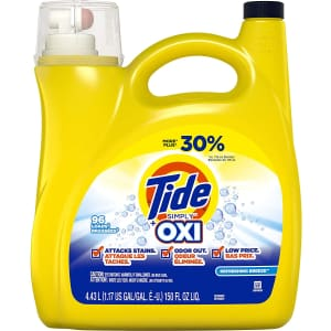Tide Simply + Oxi 150-oz. Liquid Laundry Detergent for $9