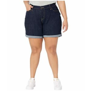 Levi's Women's Plus-Size New Shorts, Royal Rinse, 36 (US 16) for $15