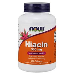 Now Foods NOW Supplements, Niacin (Vitamin B-3) 500 mg, Sustained Release, Nutritional Health, 250 Tablets for $14