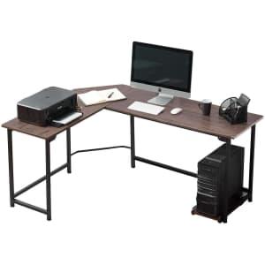"Vecelo 66"" L-Shaped Computer Desk for $95"