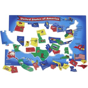 Melissa & Doug 2x3-ft. USA Map Floor Puzzle for $8