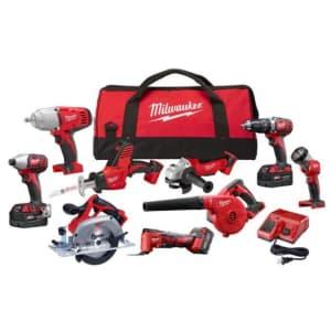 Milwaukee M18 18V Li-ion Cordless 9-Tool Combo Kit w/ 3 4Ah Batteries for $599