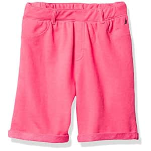 Nautica Girls' Solid Woven Short, Passion Pink, 5 for $16
