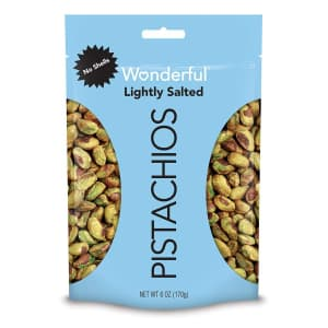 Wonderful Pistachios 6-oz. Lightly Salted Shelled Pistachios for $5