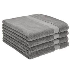 Amazon Basics Dual Performance Bath Towel - 4-Pack, Warm Stone for $35