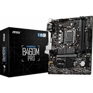 MSI Intel B460 PRO LGA 1200 Micro ATX DDR4-SDRAM Motherboard for $114