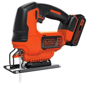 Black + Decker BLACK+DECKER 20V MAX JigSaw with Battery And Charger (BDCJS20C) for $61