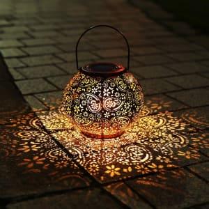 Infankey Outdoor Solar Lantern for $16