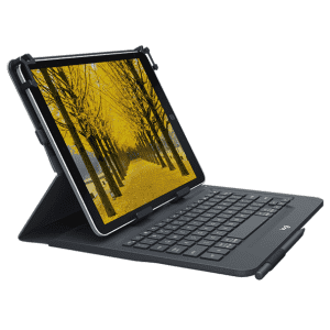 Logitech Universal Folio Integrated Bluetooth Tablet Keyboard for $15