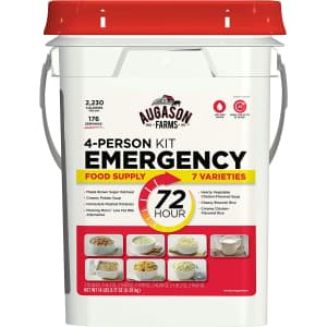 Augason Emergency 4-Person 72-Hour Food Supply for $65