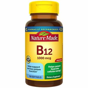 Nature Made Vitamin B12 1000 mcg Softgels, 150 Count Value Size (Packaging May Vary) for $23