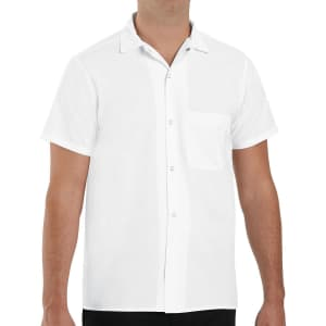Red Kap Men's Classic-Fit Button-Down Pocket Cook Shirt for $10