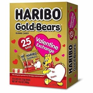 Haribo Gold-Bears Valentines Day Gummy Bears Party Supplies Favors, 25 Count for $20