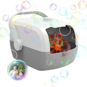 Ephiioniy Portable Soap Bubble Machine for $15