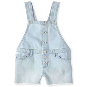 The Children's Place Girls' Shortalls, ICE WASH, 6X/7 for $9