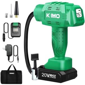 Kimo Portable Air Compressor Tire Inflator for $80