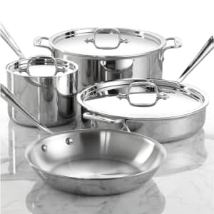 All-Clad Stainless Steel 7-Piece Cookware Set for $300
