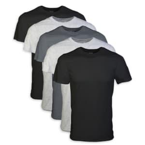 Gildan Men's Crew Neck T-Shirt 5-Pack for $17