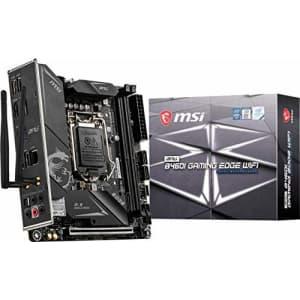 MSI MPG B460I Gaming Edge WiFi Gaming Motherboard (Mini-ITX, 10th Gen Intel Core, LGA 1200 Socket, for $260