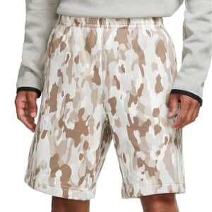 Nike Men's Camouflage Fleece Shorts for $18