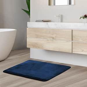 Clara Clark Solid Collection Memory Foam Bath Mat Set - Non Slip, Absorbent, Soft Bath Rug Set - for $13