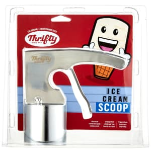 Thrifty Stainless Steel Cylindrical Ice Cream Scoop for $20