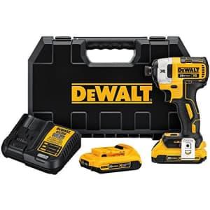 DEWALT 20V MAX XR Impact Driver Kit, Brushless, 3-Speed, 1/4-Inch, 2.0-Ah (DCF887D2) for $179