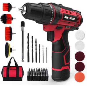 Meterk 50-Piece Cordless Drill/Driver Set for $43